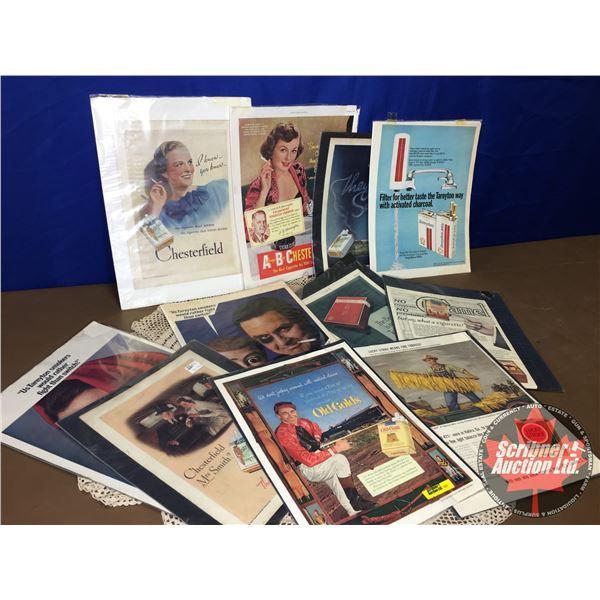 Vintage Cigarette Ads (11) (See Pics)