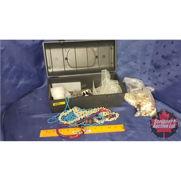 Jewellery Making Items (Various Beads in Carry Case)