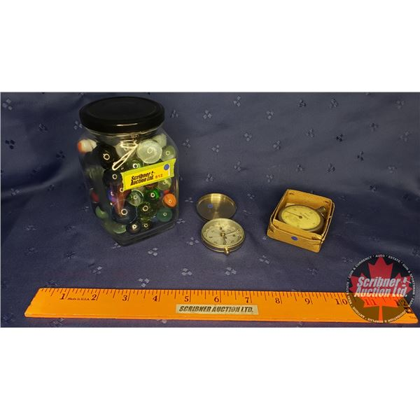Collector Combo: Jar of Marbles, Suprex Pedometer & Germany Compass