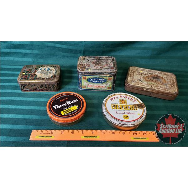 Tobacco Tin Collection : OK, Virginia, Three Nuns, MacBarens & Ogdens