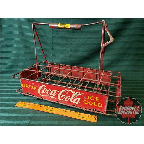 "Drink Coca-Cola Stadium Carrier 18 Bottle (attached Bottle Opener) (12""H x 9""W x 17""D)"