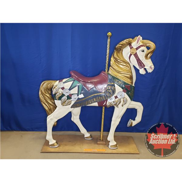 "Philadelphia Toboggan Co. Carousel Horse (Painted) Light Weight - Hollow (60-1/2""H x 12""W x 60""D)"
