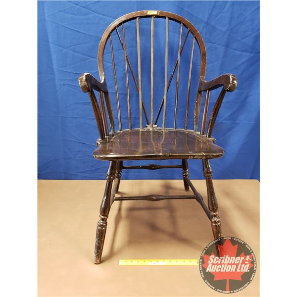 """Windsor Chair - Wooden Spindle Back w/Extra Spindle Braces (38""""H)"""