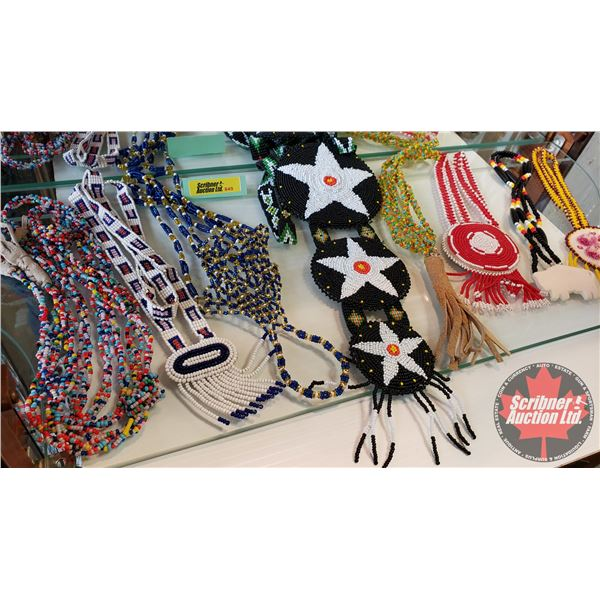 Native Beaded Necklaces (8) Variety