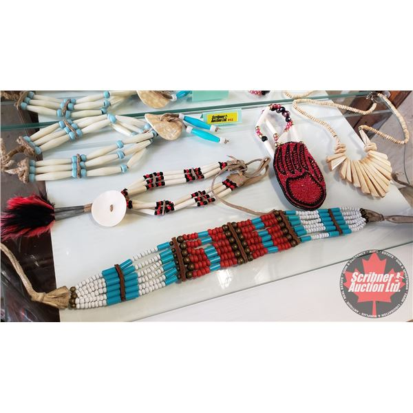 Native Larger Beaded Jewellery (5 pcs) Necklaces (Variety)