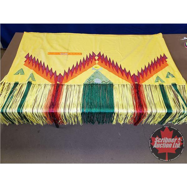 "Native Tee Pee Embroidered Wrap Skirt (49"")"
