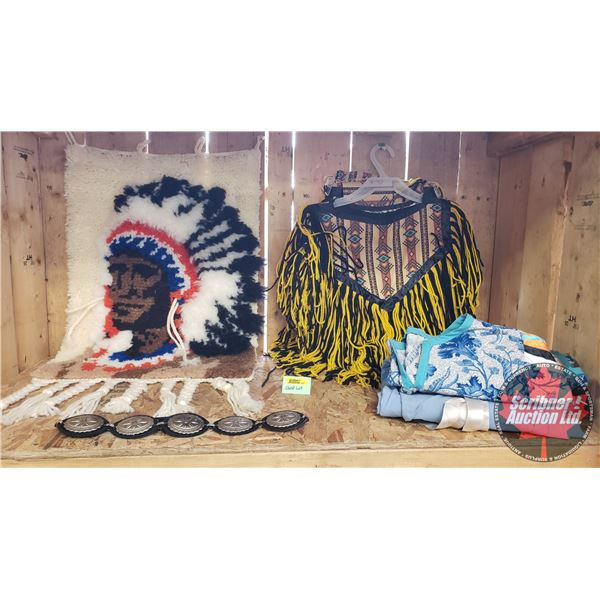 Native Grouping: Clothing, Latch Hook Hanging & Belt