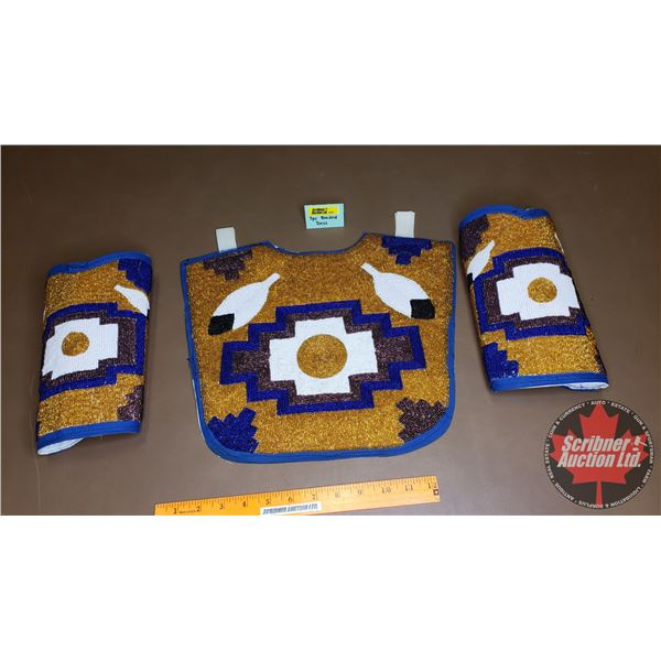 Native Beaded Chest Plate & Cuffs (2)