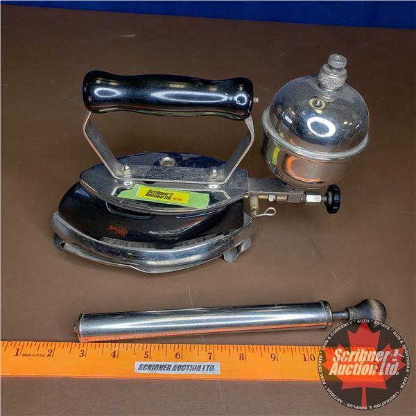 Coleman Gas Iron Model 4A with Trivet & Pump