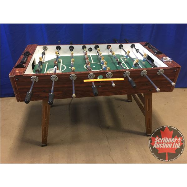 """Foosball Table - Vintage (34""""H) (Total Width with Rods 51"""")"""