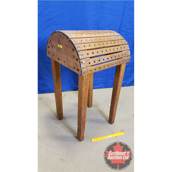 """Wooden Saddle Stand (32""""H x 16""""W x 18""""D)"""