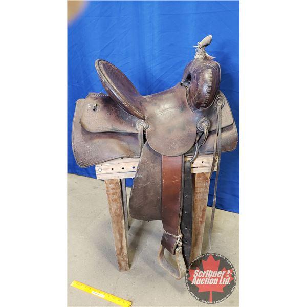 High Back Stock Saddle (c. 1910-1920)
