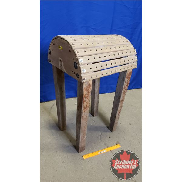"""Wooden Saddle Stand (39""""H x 16""""W x 18""""D)"""