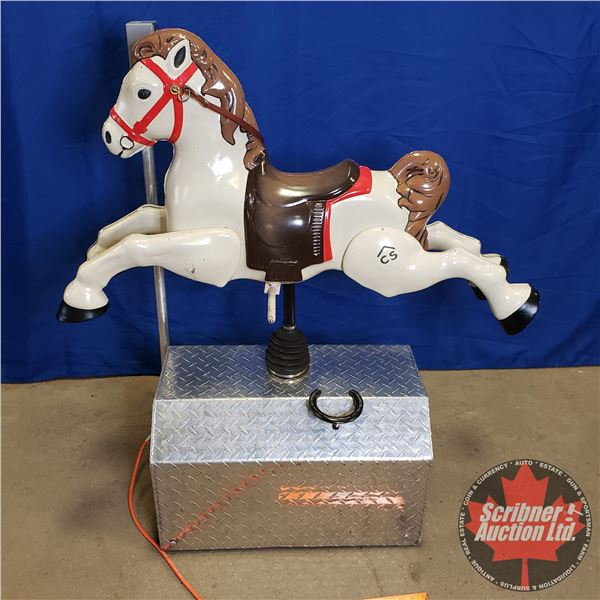 """Department Store / Carnival Kiddie Mechanical Ride """"Horse"""" (Working!) (49-1/2""""H x 39""""W x 16-1/2""""D)"""