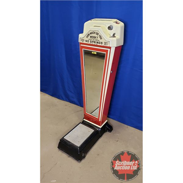 """Watling Question & Answers & Correct Weight Coin Operated Scale (No Key) (Working!) (49-1/2""""H x 16-1"""