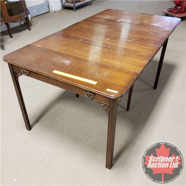 """Dinging Table with 4 Leaves (when condensed becomes Hallway Table) (30""""H x 37-1/2""""W x 70""""D Open) (20"""