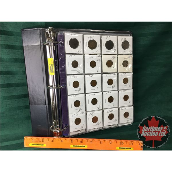 Binder Lot: Junior Collector - Variety of Years & Denominations (Canada & Foreign) (60 Coins & 12 Bi
