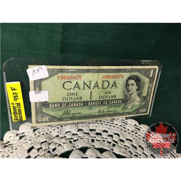 Canada $1 Bill 1954DF : Coyne/Towers #BA9688878