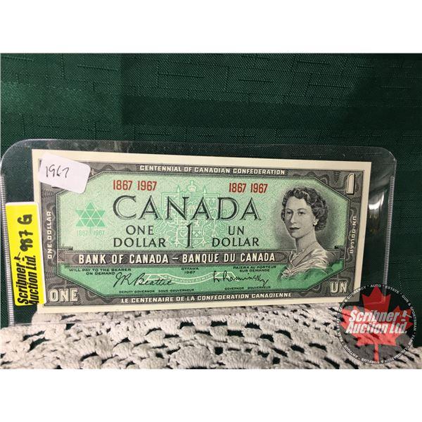 Canada $1 Bill 1967 : Beattie/Rasminsky