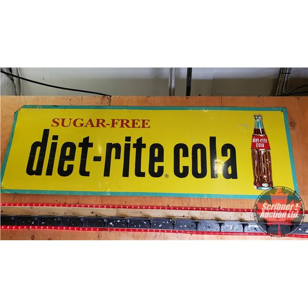 """Single Sided Tin Sign : Vintage """"Diet-Rite Cola"""" (18"""" x 54"""")"""
