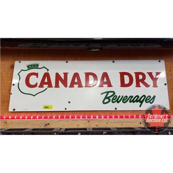 "Single Sided Enamel Sign : Vintage ""Canada Dry"" (10"" x 30"")"