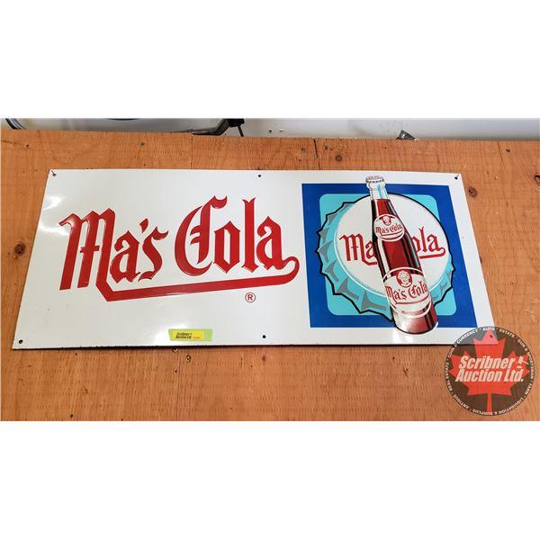 "Single Sided Tin Sign : Vintage ""Ma's Cola"" (12"" x 28"")"