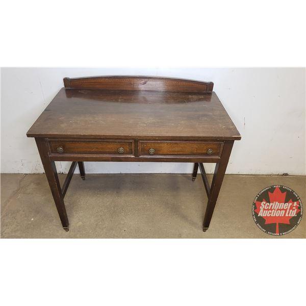"""Two Drawer Desk:  33""""H x 38""""W x 22""""D"""