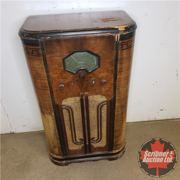 """Westinghouse Cabinet Radio (Not Working) 40""""H x 23""""W x 12""""D"""