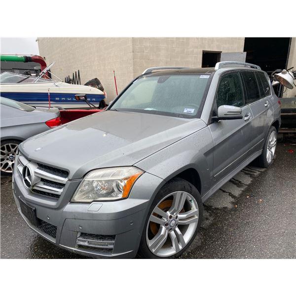 2011 MERCEDES GLK 350 4 MATIC, 4DR SUV, GREY, VIN # WDCGG8HBXBF594864
