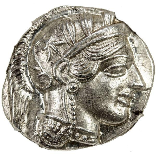 ATHENS: AR tetradrachm (17.20g), ca. 440-404 BC. NGC MS