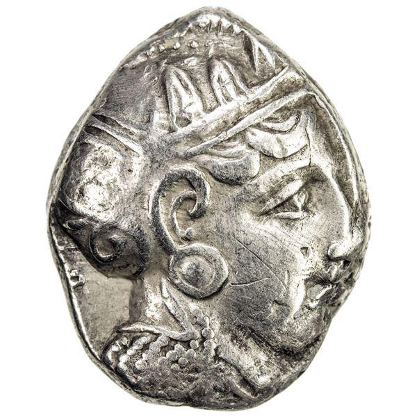 ATHENS: AR tetradrachm (17.87g), ca. 353-294 BC. VF