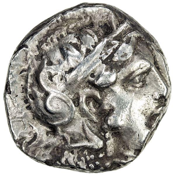 ATHENS: AR tetradrachm (17.11g), ca. early 3rd century BC. VF
