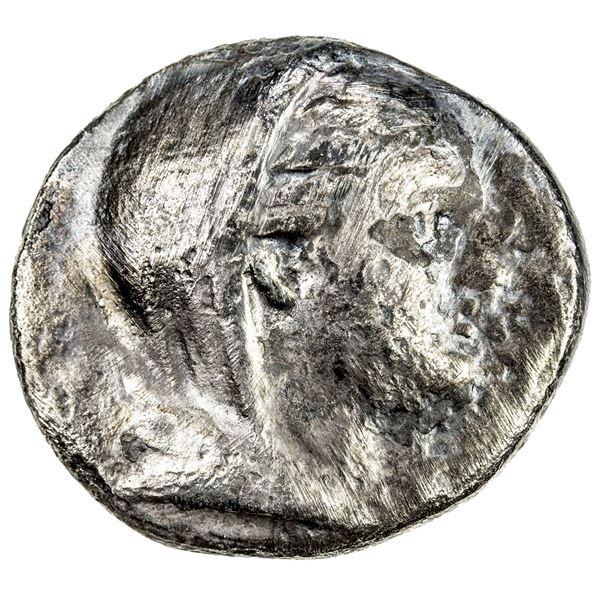EPHESOS: Erxias, magistrate, AR octobol (5.27g), ca. 290-281 BC. F-VF