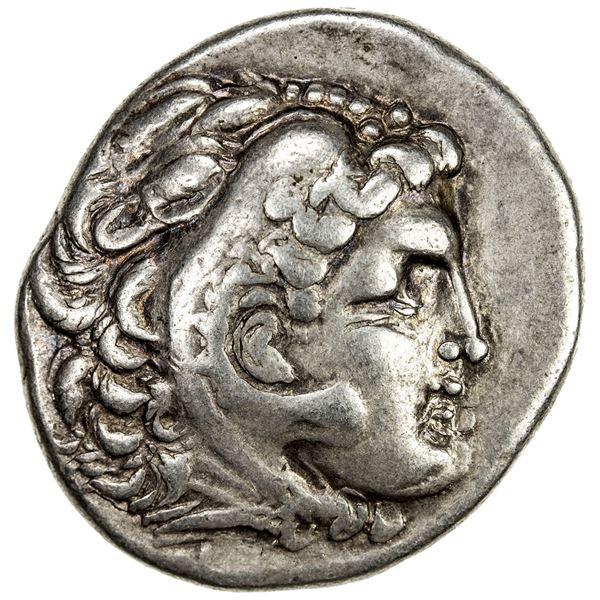 MACEDONIAN KINGDOM: Philip III Arrhidaios, 323-317 BC, AR tetradrachm (16.85g), Arados. VF