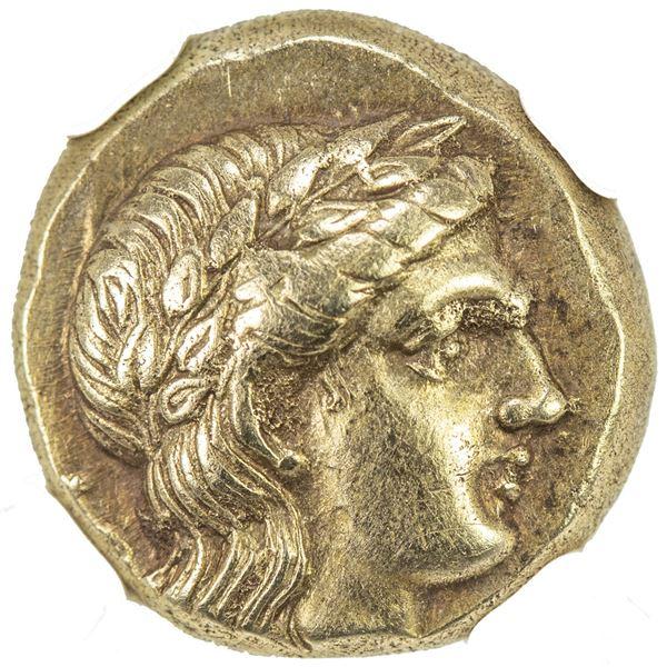 MYTILENE: EL hecte (2.55g), ca. 377-326 BC. NGC EF