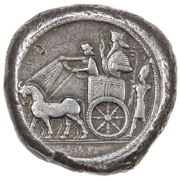 SIDON: Baalshallim II, ca. 401-366 BC, AR dishekel (28.17g). F-VF