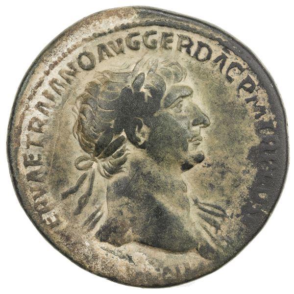 ROMAN EMPIRE: Trajan, 98-117 AD, AE sestertius (23.88g), Rome, 103-111 AD. F-VF