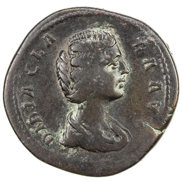 ROMAN EMPIRE: Didia Clara, augusta, 193 AD, AE sestertius (20.35g), Rome. F