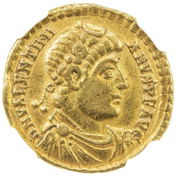 ROMAN EMPIRE: Valentinian I, 364-375, AV solidus (4.41g), Treveri (Trier), 373-375. NGC VF
