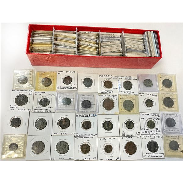 ROMAN EMPIRE: LOT of 162 coins from the Republic to the early 5th century