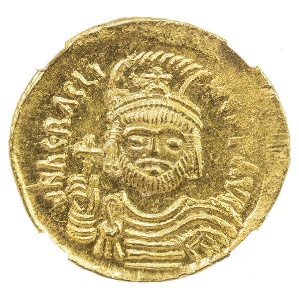 BYZANTINE EMPIRE: Heraclius, 610-641, AV solidus (4.50g), Constantinople. NGC MS