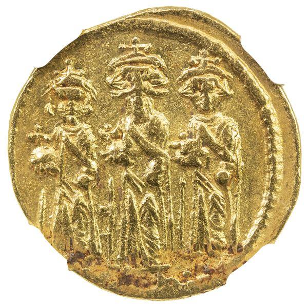 BYZANTINE EMPIRE: Heraclius, 610-641, AV solidus (4.38g), Constantinople. NGC EF