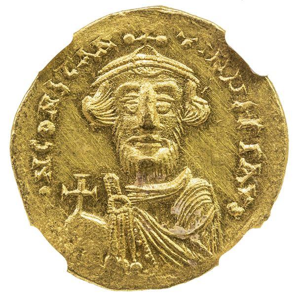 BYZANTINE EMPIRE: Constans II, 641-668, AV solidus (4.46g), Constantinople. NGC MS