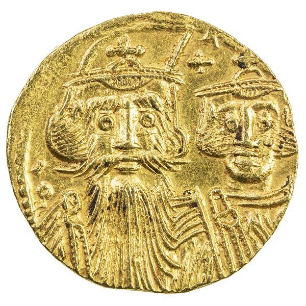 BYZANTINE EMPIRE: Constans II, 641-668, AV solidus (4.35g), Constantinople. EF