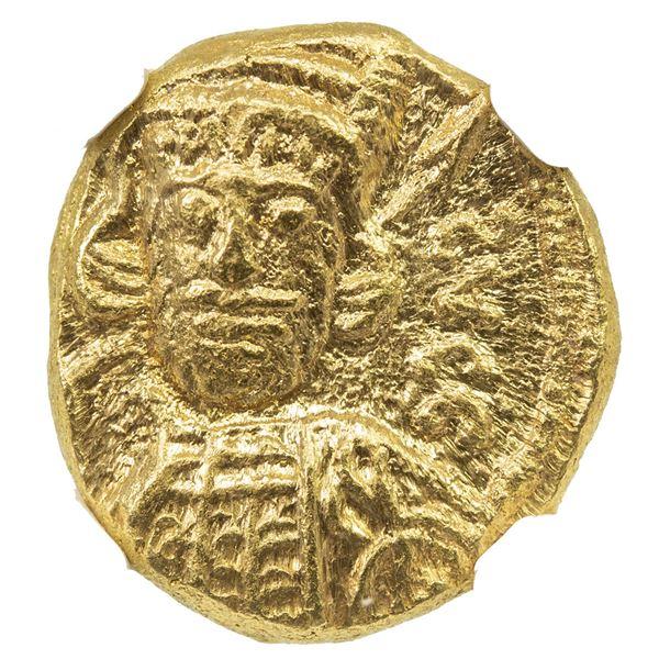 BYZANTINE EMPIRE: Constantine IV Pogonatus, 668-685, AV solidus (4.36g), Carthage. NGC MS