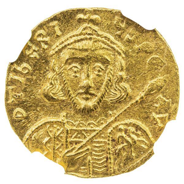 BYZANTINE EMPIRE: Tiberius III Aspimar, 698-705, AV solidus (4.43g), Constantinople. NGC MS