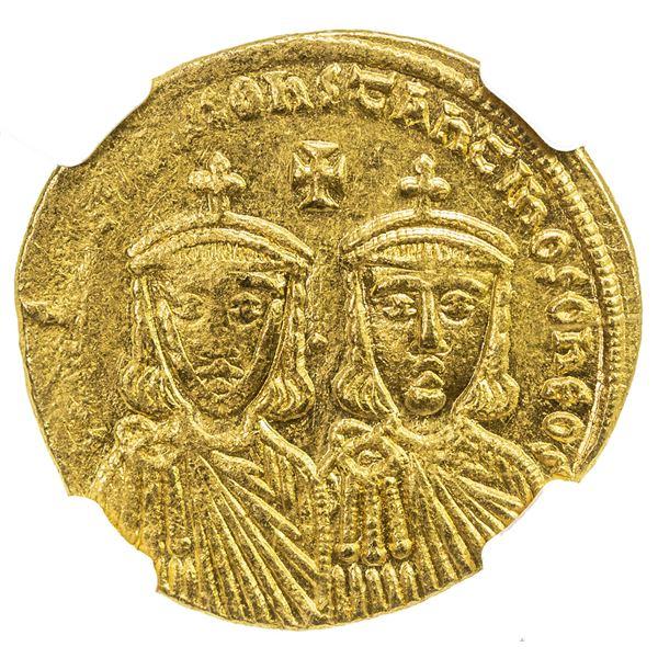 BYZANTINE EMPIRE: Leo IV, the Khazar, 775-780, AV solidus (4.42g), Constantinople. NGC AU