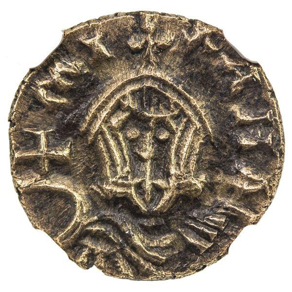 "BYZANTINE EMPIRE: Michael III, ""the Drunkard"", 842-867, AV/EL semissis (1.48g), Syracuse. NGC EF"