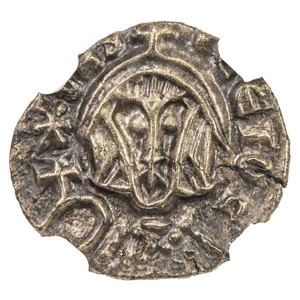BYZANTINE EMPIRE: Basil I, the Macedonian, 867-886, EL semissis (1.21g), Syracuse. NGC AU