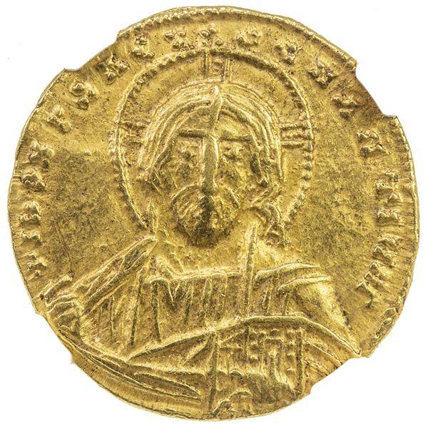 BYZANTINE EMPIRE: Constantine VII Porphyrogenitus, 913-959, AV solidus (4.54g), Constantinople. NGC